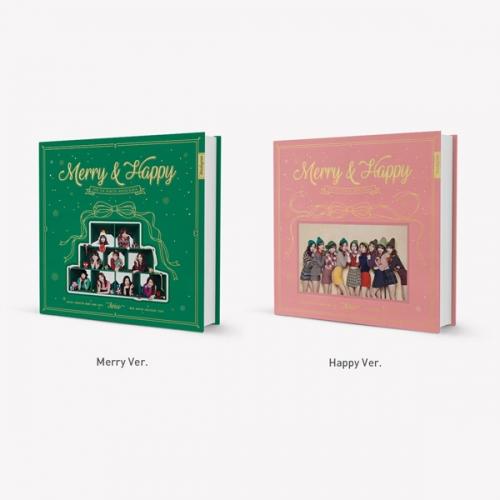 트와이스(TWICE) - 정규 1집 리패키지 Merry & Happy 메리앤해피 하트쉐이커 Heart Shaker 하트셰이커 <초회한정 포토카드+포스터 >