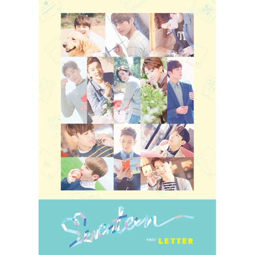 세븐틴 (Seventeen) 1집 - First 'Love&Letter' [LETTER Ver.] <포스터> 예쁘다