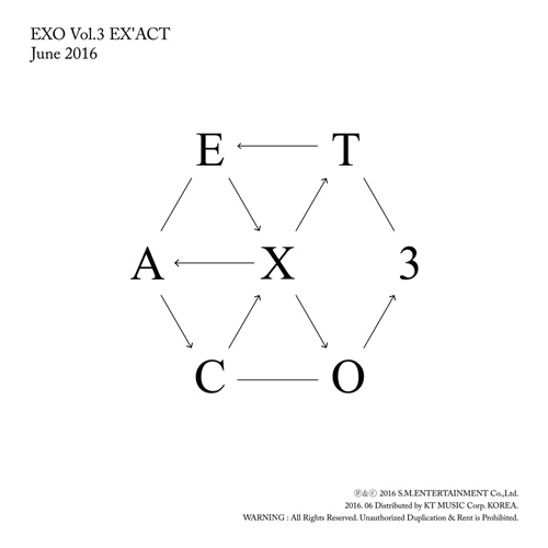 엑소 (EXO) - 정규 3집 EX'ACT [Korean Ver.] (Lucky One) <포스터>