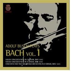 Adolf Busch Plays Bach Vol.1 (아돌프 부쉬가 연주하는 바흐 1집)