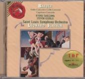 Barber - Violin Concerto, Cello Concerto, Capricorn Concerto, Leonard Slatkin (바버 : 바이올린 협주곡, 첼로 협주곡 외) [수입]