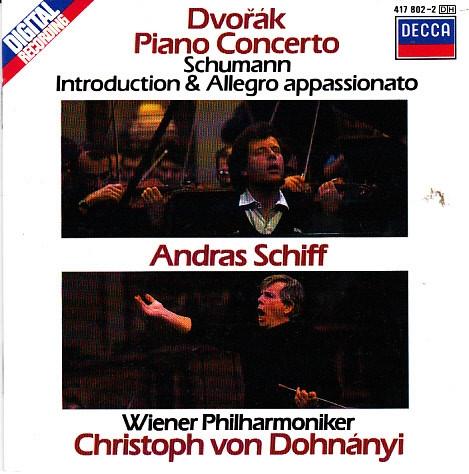 Dvořák, Schumann - Piano Concerto / Andras Schiff, Wiener Philharmoniker, Christoph von Dohnányi