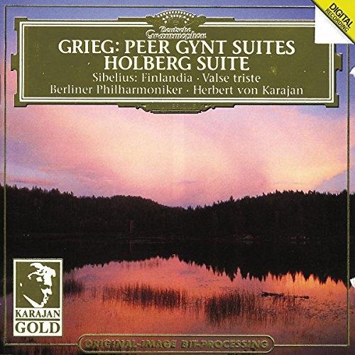 Grieg: Peer Gynt Suiten, Holberg Suite / Sibelius - Finlandia, Valse Triste U.A. : Karajan [수입]