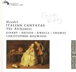 Handel - Italian Cantatas, The Alchymist / Kirkby, Nelson, Kwella, Thomas, Christopher Hogwood (포장지 손상)