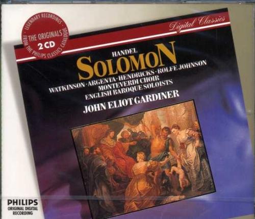 Handel - Solomon / John Eliot Gardiner (헨델 - 솔로몬) [수입]