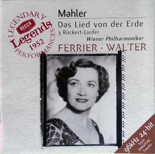 Gustav Mahler - Das Lied Von Der Erde / Kathleen Ferrier , Bruno Walter , Vienna Philharmonic Orchestra (말러 - 대지의 노래, 뤼케르트 시에 의한 가곡) [수입]