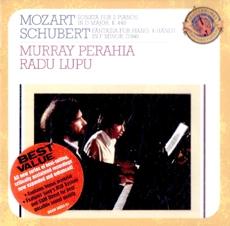 Murray Perahia, Radu Lupu : Mozart & Schubert - Four Hand Piano Works (모차르트 - 두 대의 피아노를 위한 소나타 K448 & 슈베르트 - 네 손을 위한 환상곡 외 D940) [보너스 트랙] [수입] [Piano]
