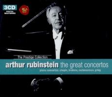 Arthur Rubinstein : The Great Concertos (루빈스타인 : 위대한 협주곡 모음집) [The Prestige Collection] [3CD] [수입] [Piano]